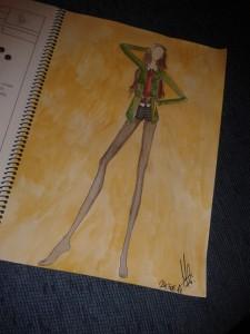 Marta empezó a dibujar sus diseños cuando empezó el módulo medio.