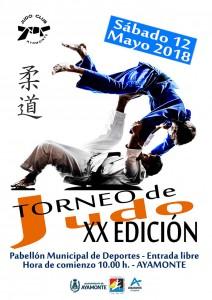 Cartel anunciador del torneo de judo que se celebrará en Ayamonte.