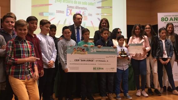 El colegio San Jorge de Palos de la Frontera, ganador del Concurso Escolar del Grupo Social ONCE