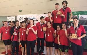 Representantes del CODA Huelva en el Campeonato celebrado en La Rinconada (Sevilla).