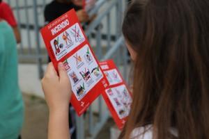 Los niños recibieron consejos de qué hacer ante un incendio.