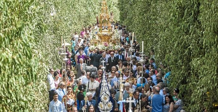 Todo preparado en Hinojos para la celebración del Corpus, que tiene lugar del 20 al 23 de junio