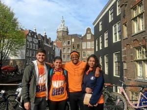 El joven, en una imagen en Ámsterdam.