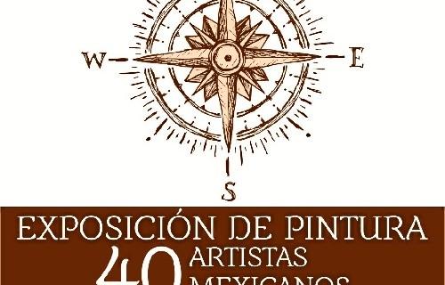 El Casino de Rociana acoge la muestra pictórica 'Encuentro entre dos mundos' con obras de artistas mexicanos