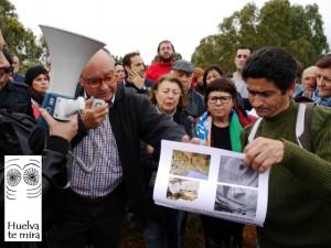 Colectivos como las federaciones de AAVV, Huelva Te Mira o Plataforma Parque Moret, están llevando a cabo una importante campaña de sensibilización.
