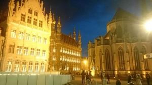 Grote Markt, céntrica plaza de Lovaina donde se encuentra el Ayuntamiento de la ciudad.