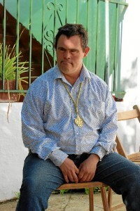 Juan Antonio está viviendo una experiencia única, esperada durante su ya larga e intensa vida rociera. / Foto : LCD.