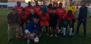 Los Rifeños, un combinado formado por jugadores de Marruecos y España, los segundos.