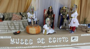 El Museo de Egipto creado por los pequeños del centro escolar.