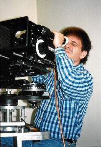 Pepe Lagares, detrás de la cámara.