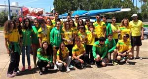 Componentes del Club Piragüismo Tartessos Huelva en la prueba celebrada en Sevilla.