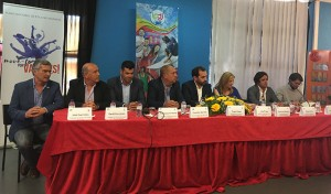 Un momento de la presentación de los IX Juegos Quelfes en Faro.