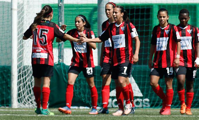 Las jugadoras del Sporting afrontan con ganas el difícil partido con el Barcelona. / Foto: www.lfp.es.
