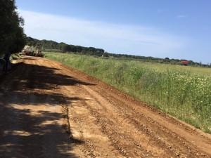 Los caminos están siendo reparados.