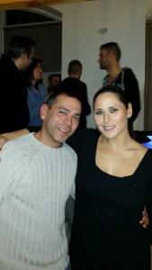 Con la cantante Rosa López.