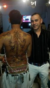 Ha hecho creaciones de body painting para Got Talent y Miami TV.