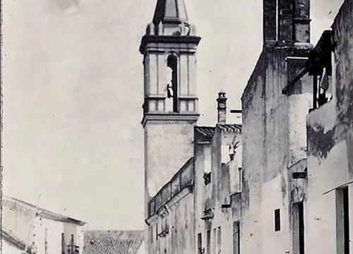 Calle Teas, del antiguo pueblo, demolido, de Ríotinto (La Mina). Primera década del siglo XX.