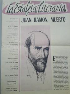 La noticia en La Estafeta Literaria. / Colección León Brázquez
