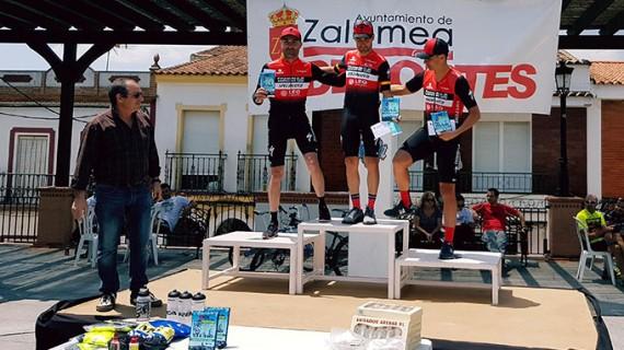 Javier Ramírez y Raquel Pérez, vencedores en la II Media Maratón BTT 'Villa de Zalamea'