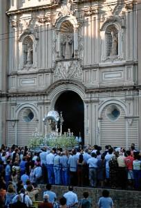 Las Fiestas de la Cinta se celebran en honor de la patrona de Huelva.