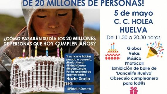 #PideUnDeseo de Madre Coraje celebra en Holea el cumpleaños de 20 millones de personas