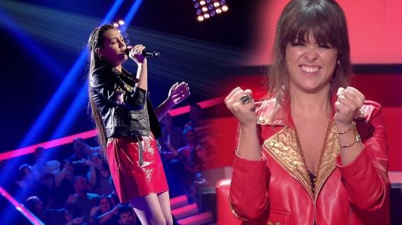 La almonteña Flori Alexandra pasa a la semifinal de 'La Voz Kids' tras deslumbrar al jurado