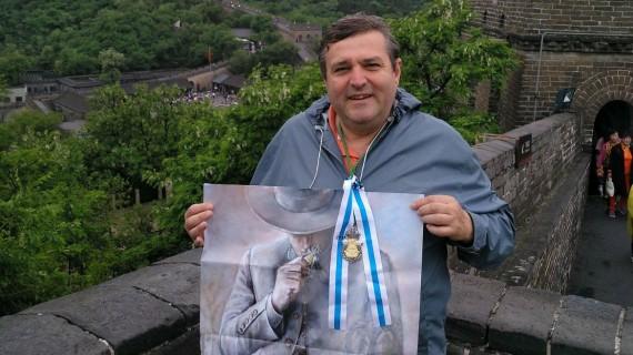 Francisco José Martínez lleva El Rocío hasta la Muralla china