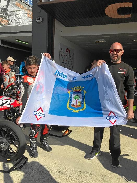 Hugo Millán, de 11 años, ha quedado en segunda posición en la categoría premoto 4 del FIM CEV Repsol.