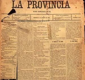 Diario 'La Provincia', una de las cabeceras en las que publicó sus textos esta escritora, adelantada a su tiempo. / Foto: Archivo Municipal de Huelva.