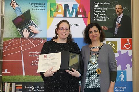 La comunicadora onubense Rosa Rodríguez, reconocida por obtener la máxima calificación de su especialidad en el Máster de Educación Secundaria