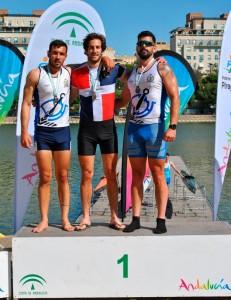 Pablo Moreno y Alejandro Ribera, en el podio.