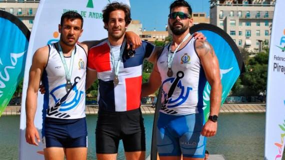 Nueve medallas conquistó el Real Club Marítimo de Huelva en el Campeonato de Andalucía de piragüismo de velocidad