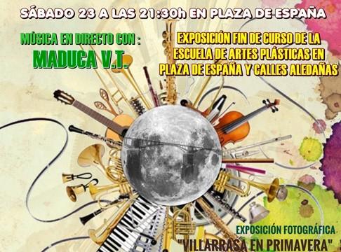 Música y exposiciones llenan la III Noche Blanca del Arte y la Cultura de Villarrasa