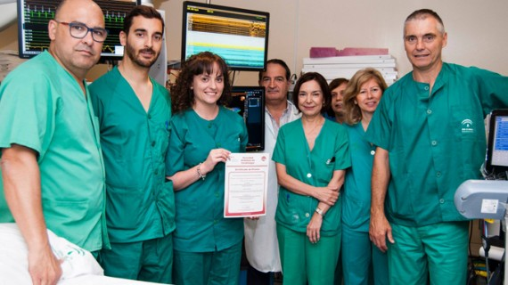 Cardiólogos del Juan Ramón Jiménez reciben el Premio Doctor Pedrote de la Sociedad Andaluza de Cardiología