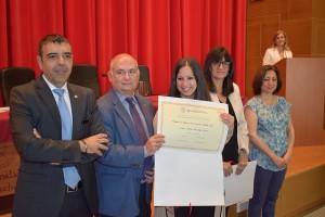 Entrega del premio a la  Tesis Doctoral.