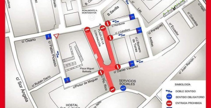 Las obras del nuevo aparcamiento de la Plaza de la Coronación de Moguer arrancan este lunes