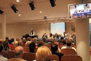 Momento del ingreso en la Academia de Yolanda Pelayo.