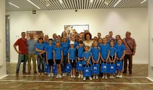 Foto de familia del encuentro con niños bielorrusos.