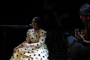 Rocío Belén Cuesta durante su actuación.