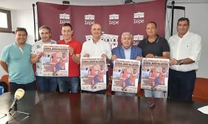 Un momento de la presentación de la Copa Andalucía Balonmano Playa, que coincidirá con el XX Torneo Ciudad de Lepe.