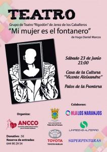 Cartel de la obra 'El fontanero es mi mujer'.