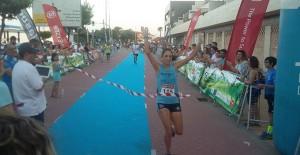 Lidia Rodríguez fue la primera mujer en cruzar la meta.