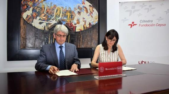 La Onubense y Cepsa renuevan el convenio que hace posible la Cátedra Fundación Cepsa