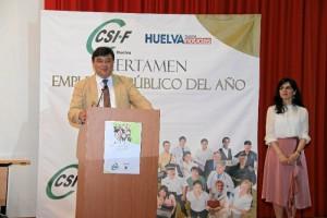 El alcalde de Huelva, Gabriel Cruz, cerró el acto.