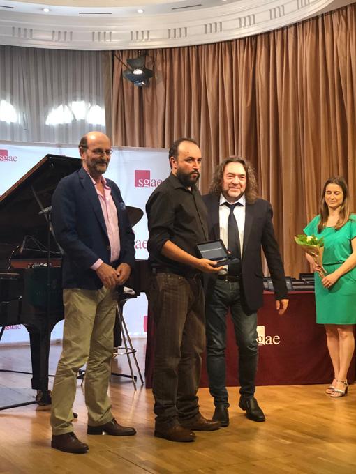 El onubense Manuel Garrido Palacios recibe la llave de La Casa de los Autores de la SGAE