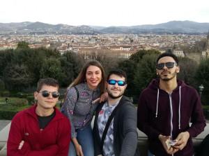 Estudiantes en Florencia.
