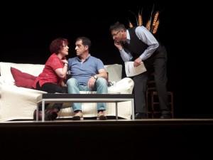 Una escena de la representación teatral.