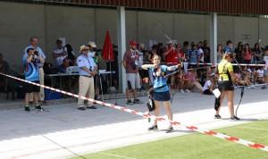 Leyre Fernández, en un momento de la final del torneo.