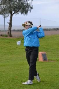 Laura López, durante la prueba en Sherry Golf este sábado pasado.