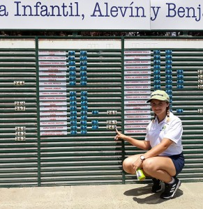 Laura López, tras terminar su participación en el Campeonato de España de Golf Infantil.